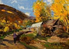 Golden Autumn In Vithkuq Korce by Sefedin Stafa