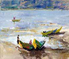 Fishing Boats by Azem Kucana